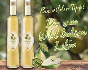 Wild Subira Likör von Prinz - mit Saft und Destillat echter Vorarlberger Saubirnen