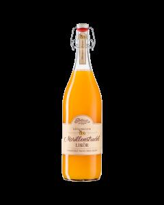 Eine 1-Liter-Flasche hausgemachter Apfelstrudel Likör von Prinz.