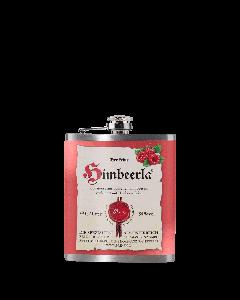 Edelstahl-Flachmann (ca. 200 ml) mit Himbeerla 34 % vol.