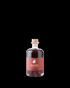Gamsblut - Waldbeeren-Likör mit Schlehen von Prinz in der 0,5-Liter-Flasche.