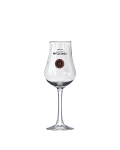 Bauchiges Hafele-Brand-Glas von Prinz mit Stiel für den Genuss von Edelbränden.