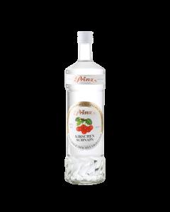 Kirschen-Schnaps 40 % vol. von Prinz in der 1-Liter-Flasche.