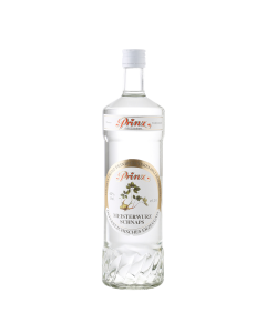 Meisterwurz-Schnaps 40 % vol. von Prinz in der 1-Liter-Flasche.