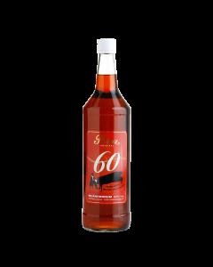 Inländer Rum 60 % vol. von Prinz in der 1-Liter-Flasche.