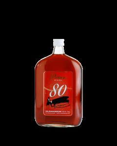 Inländer-Rum 80 % vol. von Prinz in der 1-Liter-Flasche.