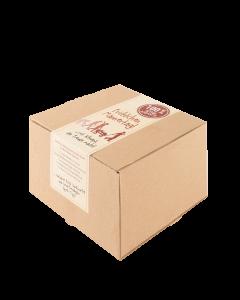 20er-Genusspaket - Après-Ski von Prinz mit je zwei 0,02-Liter-Flaschen Wiliams-Birnen Schnaps, Bratapfel Likör, Hausschnaps Marille, Heißer Apfel und Heiße Marille verpackt im Karton.