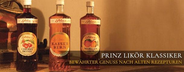 Prinz Klassische Fruchtsaftliköre - bewährter Genuss nach alten Rezepturen