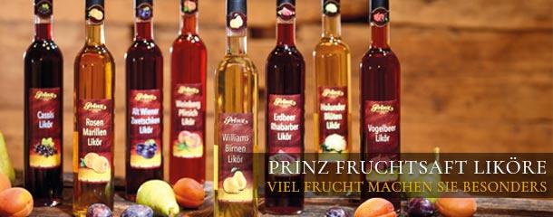 Prinz Fruchtsaftliköre - viel Frucht macht sie so besonders.