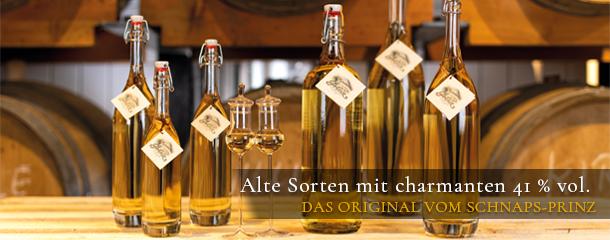 Die Alten Sorten von Prinz aus dem Holzfass überzeugen mit ihrem fruchtig-milden Geschmack und der schönen Farbe.