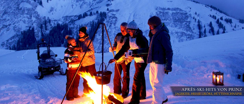 Après-Ski-Hits vom Prinz - Jagertee, heiße Liköre, Hüttenschnäpse