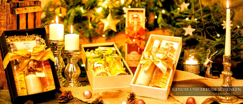 Genuss und Freude schenken – festliche Geschenkideen von Prinz