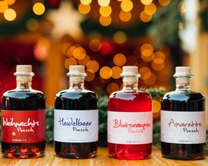 Weihnachtspunsch, Heidelbeerpunsch, Blutorangenpunsch, Amaretto-Punsch von Prinz