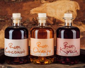 Rum Coconut, Rum Orange und Rum Kirsch von Prinz