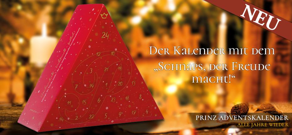 """Prinz Adventskalender - mit dem """"SCHNAPS, DER FREUDE MACHT!"""""""