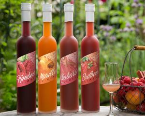 Fruchtige Limes Liköre - Marille, Erdbeer, Himbeer  und Rhabarber von Prinz